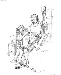 Female spanks Female Spanking Art Mix 2