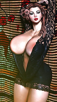 3D fantasy huge boobs